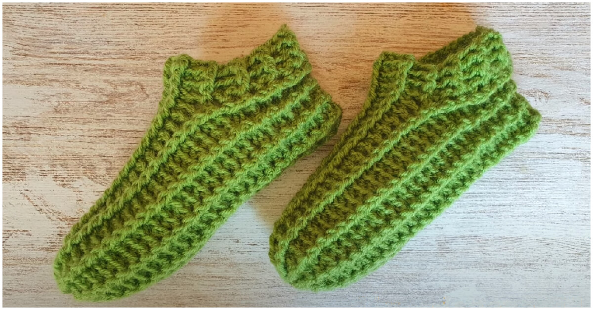 Super Fast Crochet Slippers should be a complex item to make, but I promise these slippers are not only warm but also quick and easy to make.