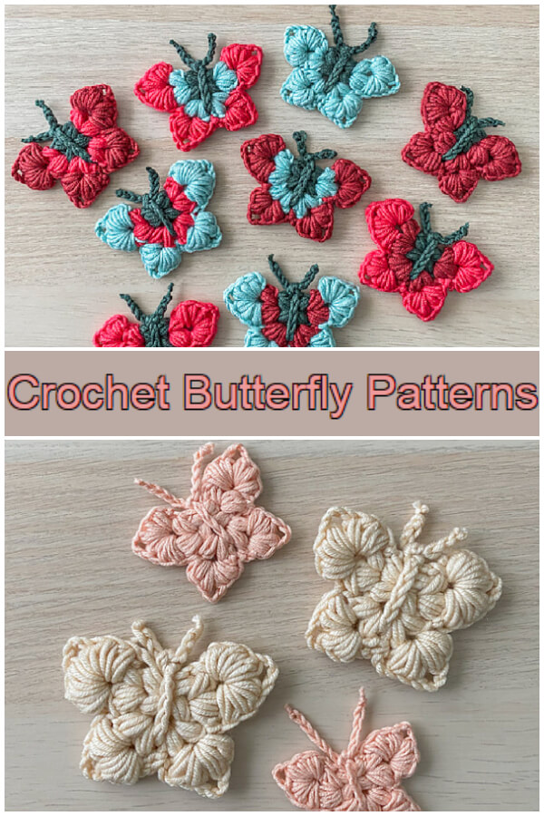 How to Crochet - This  quick and Beautiful Crochet Butterfly Patterns makes the perfect spring and summer addition to any outfit or home and hooks up super quickly.