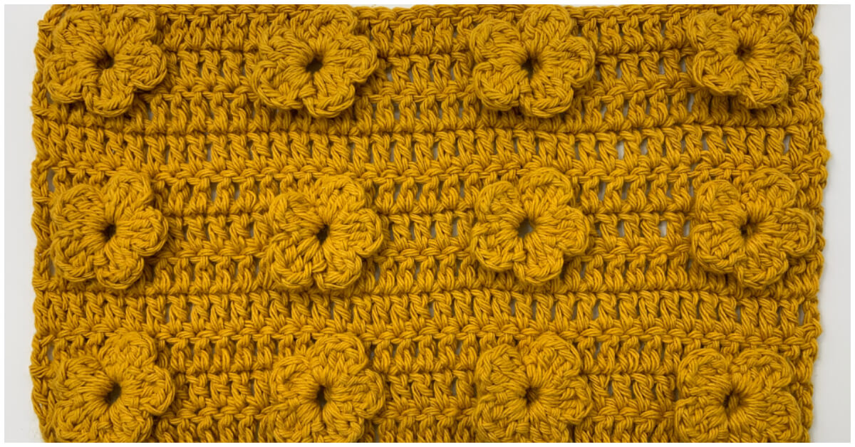 Learn to Crochet - Crochet 3D Flower Stitch is a specific crocheting technique, which you may or may not already be familiar with.