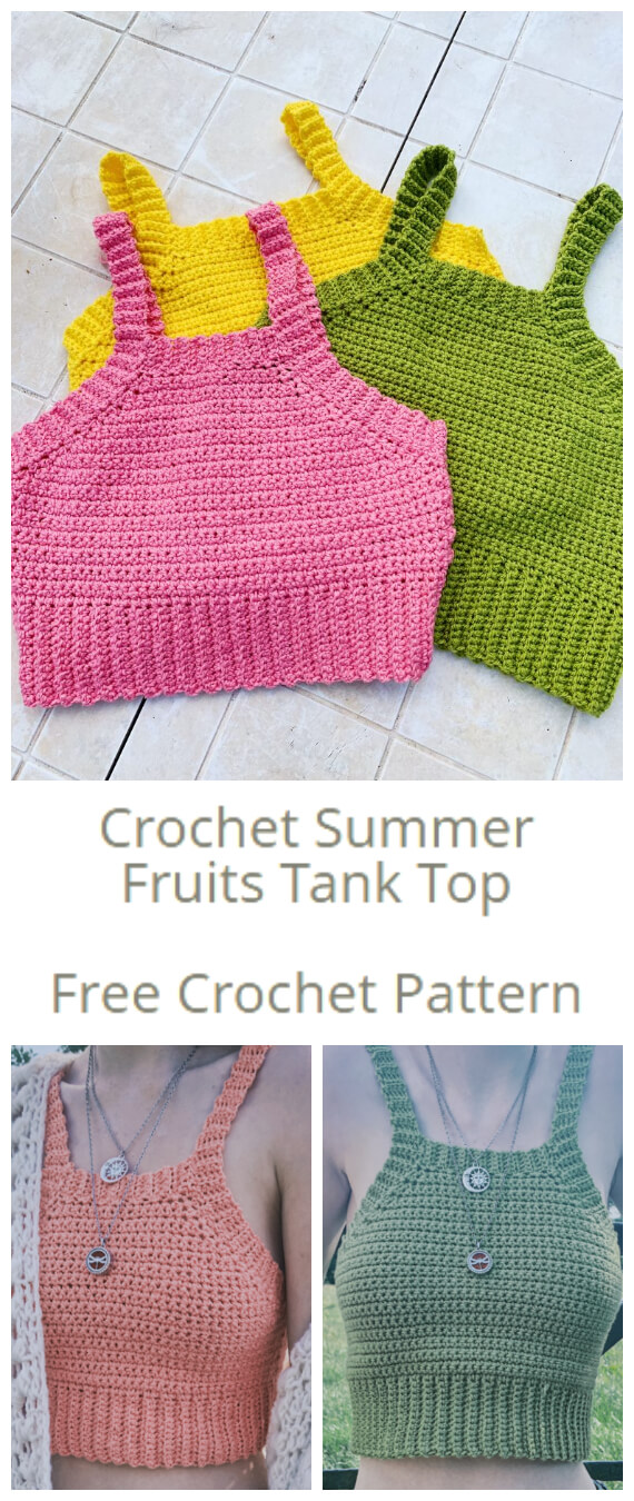 How to Crochet - If you've never made a Crochet Summer Fruits Tank Top before you will absolutely love this easy crochet pattern and tutorial.