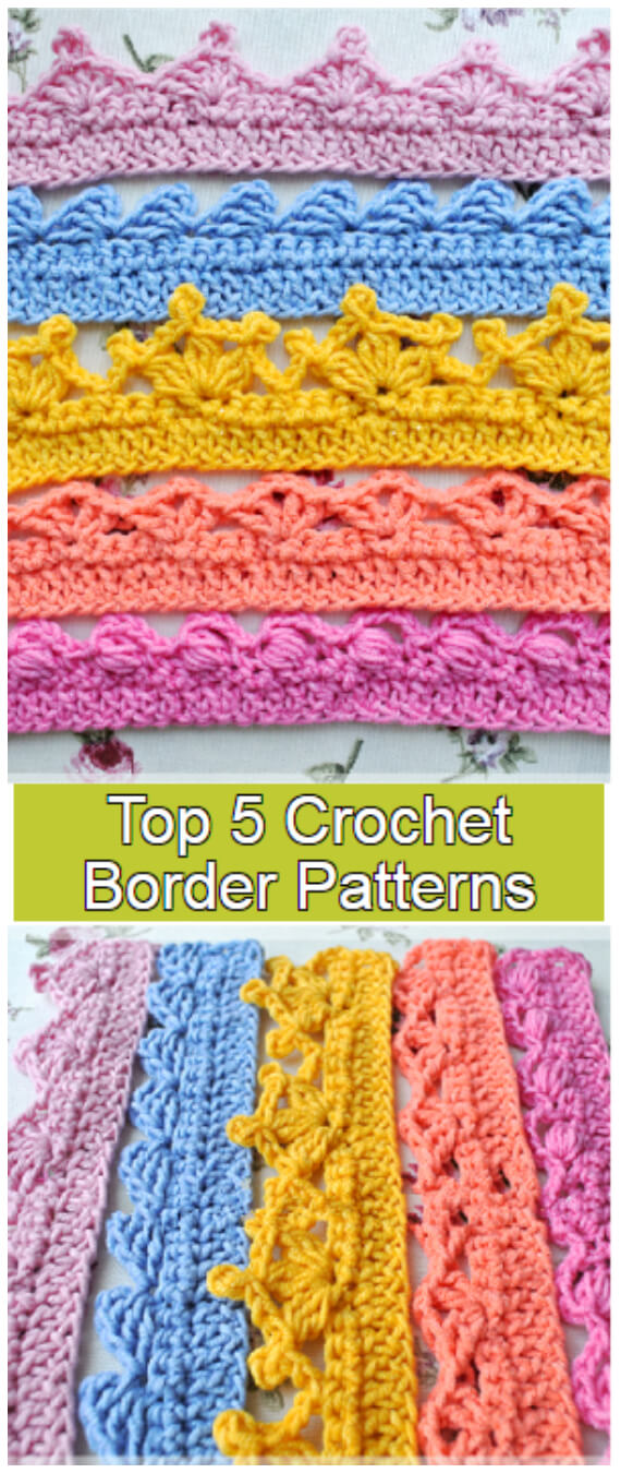 So, you just finished your crochet project and want to give it a finished look? These Top 5 Crochet Border Patterns will surely help you with this!