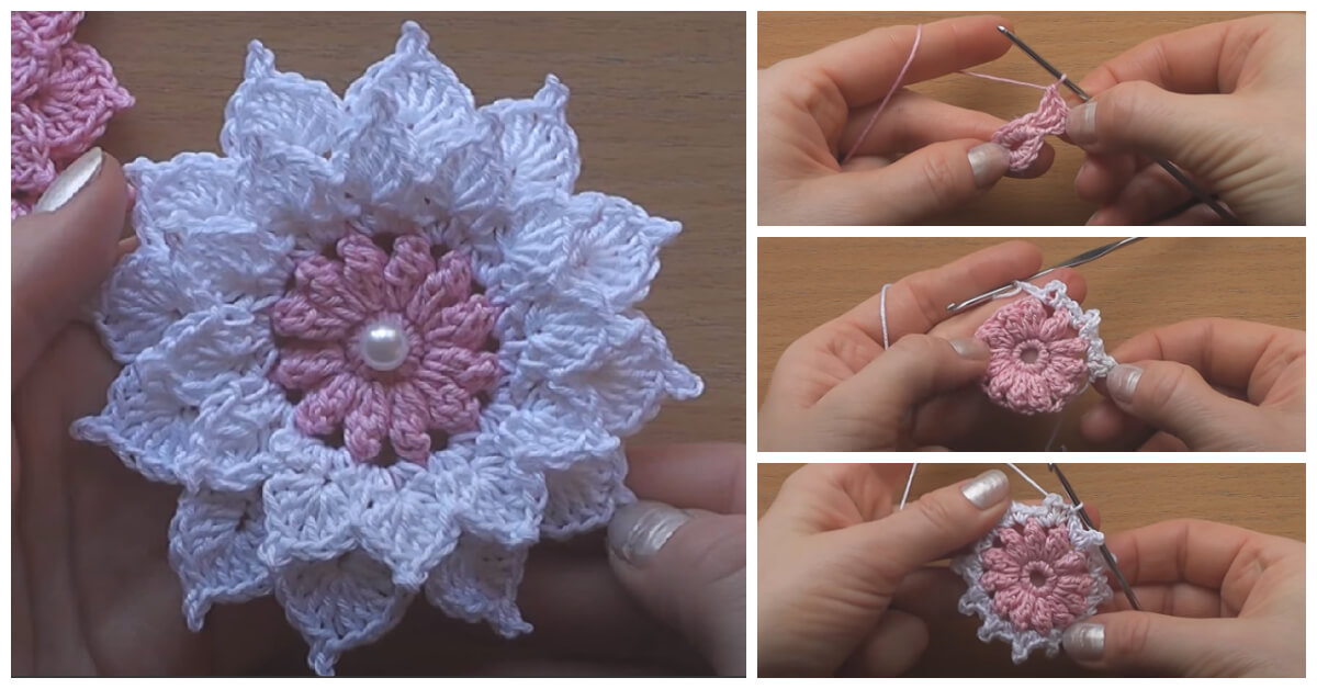 How to Crochet - Summer is right around the corner. It's the perfect time to start crocheting a new Easy and Simple Crochet Flower.Summer is right around the corner. It's the perfect time to start crocheting a new Easy and Simple Crochet Flower.