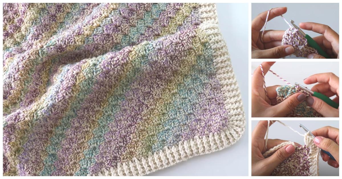 Crochet Simple Corner To Corner Baby Blanket Crochet Kingdom