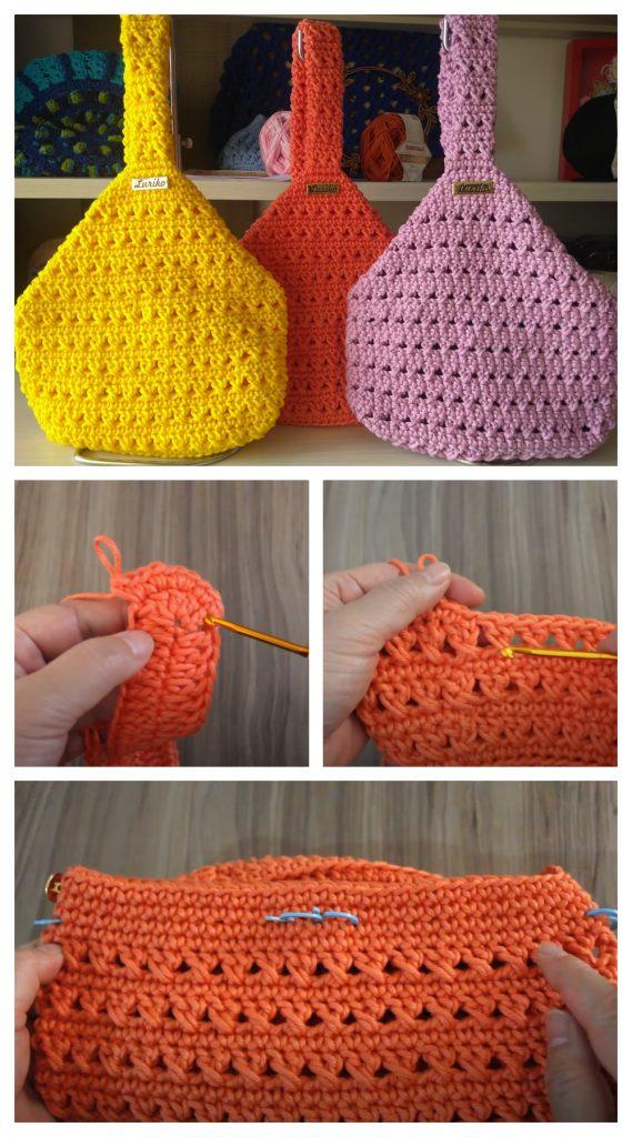 Vamos a aprender cómo tejer una bolsa de muñeca de ganchillo fácil y rápida.  Los bolsos son un accesorio de crochet tan popular y una forma de elevar tu look al siguiente nivel.